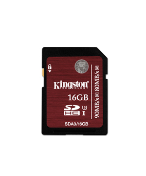 Kingston SDHC 16GB Class 3 UHS-I Speed SDHC