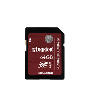 Kingston SDXC 64GB Class 3 UHS-ISpeed SDXC
