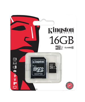 Kingston 16GB microSDHC Class 10 Flash Card
