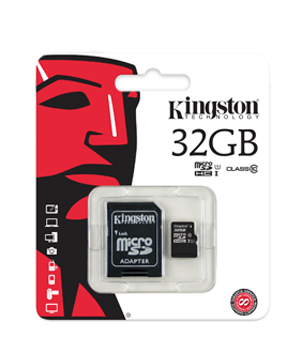 5 Kingston 32GB microSDHC Class 10 Flash Card