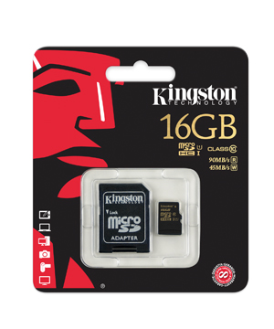 Kingston 16GB Micro SDHC Memory Card Class 10 UHS For SmartPhone