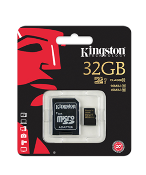 Kingston 32GB Micro SDHC Memory Card Class 10 UHS For SmartPhone