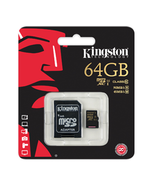 Kingston 64GB Micro SDXC Memory Card Class 10 UHS For SmartPhone