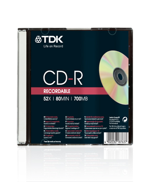 TDK CD-R80 (52x) - Slim Case