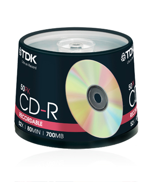 TDK CD-R80 (52x) - 50 Spindle