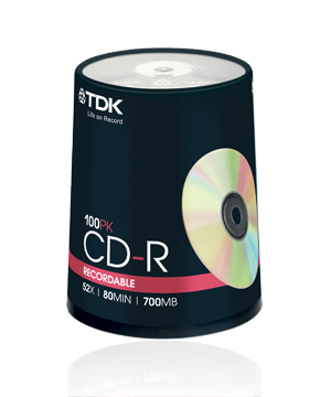 TDK CD-R80 (52x) - 100 Spindle