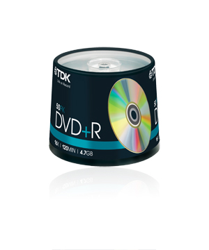 TDK DVD+R (16x) 50 Pack Spindle