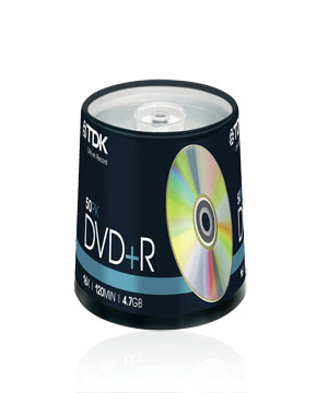 TDK DVD+R (16x) 100 spindle
