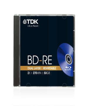 TDK BD-RE Disk - 50Gb (1-2x)