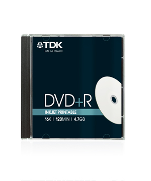 TDK DVD+R (16x) Inkjet Printable (10 pack)