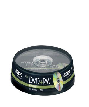 TDK DVD+RW 4.7Gb (4x) - 10 spindle