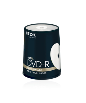 TDK DVD-R (16x) 100 spindle Printable