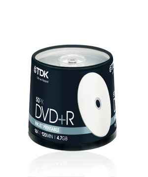 TDK DVD+R (16x) 50 spindle printable