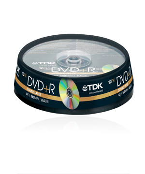 TDK DVD+R (16x) - 10 Pack Spindle