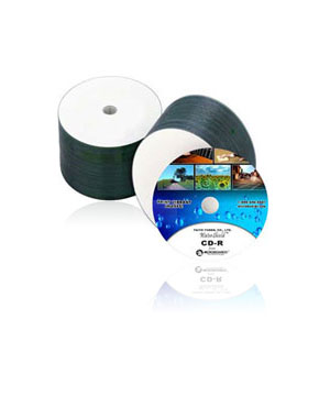 Taiyo Yuden CD-R80 Watershield White Printable - 50 Tub