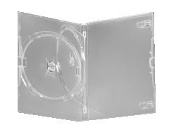 DVD Case -  Amaray Premium Clear with Tray Holds 2 Discs