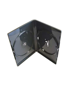 DVD Case - Amaray Premium Black Double 14mm Face to face