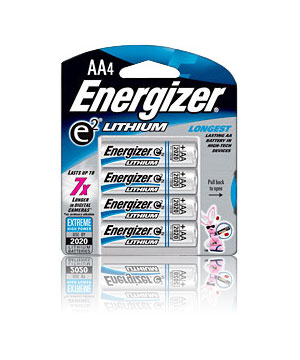 Energizer Lithium AA - 4 pack