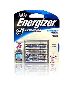 Energizer Lithium AAA - 4 pack