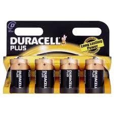 Duracell  D Alkaline Batteries - 4 Pack