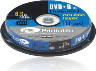 Intenso DVD+DL printable-10 spindle