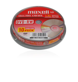 Maxell DVD-RW (2x) - 10 spindle