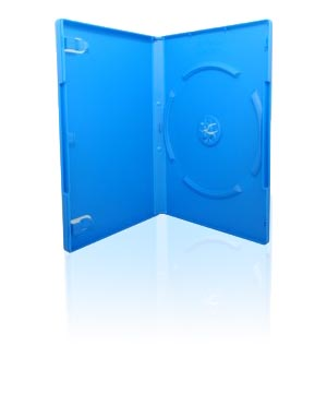 DVD Case - Blue Holds 1 Disc (14mm)