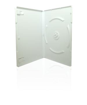 DVD Case - White holds 4 discs