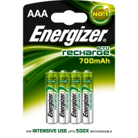 "Energizer Rechargeable ""AAA"" 700mah NIMH Batteries"
