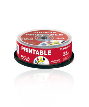 Fuji DVD-R (16x) 25 Pack Spindle - Printable