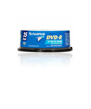 Fuji DVD-R (16x) 25 Pack Spindle