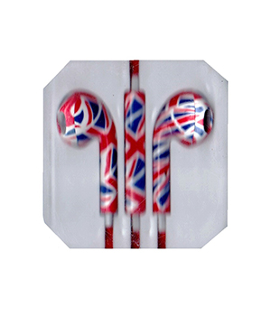 Union Jack Colour Earphone for iPhone