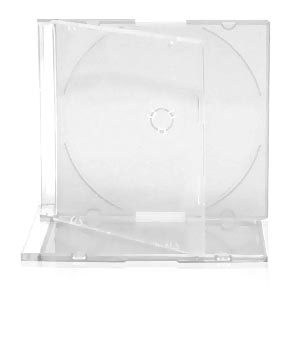 Jewel Case - Clear for 2 Disks
