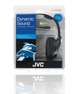 JVC Dynamic Sound HA RX500 Full-Size (Black)