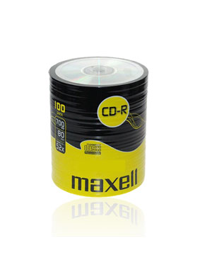 Maxell CD-R80 (52x)  - 100 Shrink Wrap