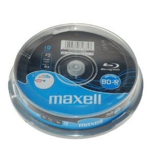 Maxell BD-R 25gb Printable(4x)-10 spindle