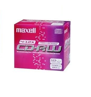 Maxell CD-RW 80 (1-4x)-box of 10