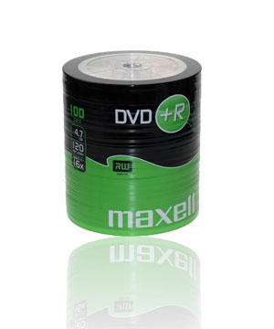 Maxell DVD+R (16x) - 100 Pack shrink wrap