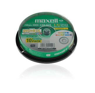 Maxell DVD+R 8.5gb (8x) - 10 spindle Printable