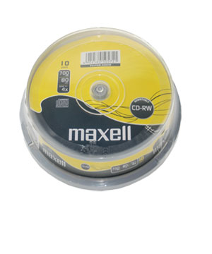 Maxell CD-RW 80 (1x-4x)-10 spindle