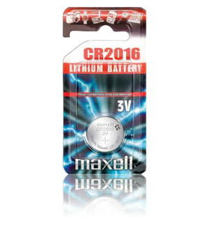 Maxell CR-2016 Micro Lithium Coin Cell Battery