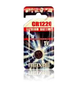 Maxell CR-1220 3v Micro Lithium Coin Cell Battery