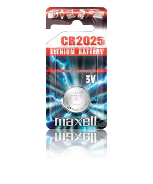 Maxell CR-2025 Micro Lithium Coin Cell Battery