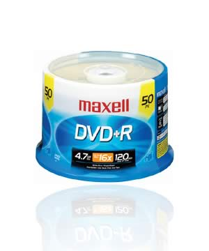 Maxell DVD+R (16x)- 50 spindle Full Printable