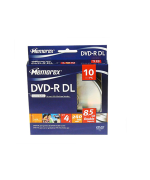 Memorex DVD-R 8.5GB Dual Layer Spindle of 10