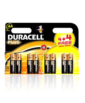 Duracell  AA  Alkaline Plus Batteries - 8 Pack