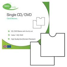 Neo Thumb Cut CD Sleeve- Card - 50 Pack