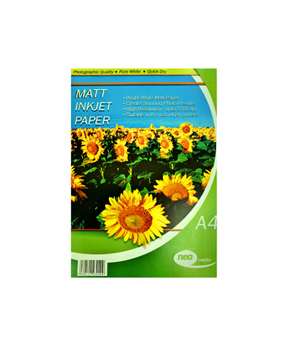 Neo Matt Paper 128GSM Pack of 100