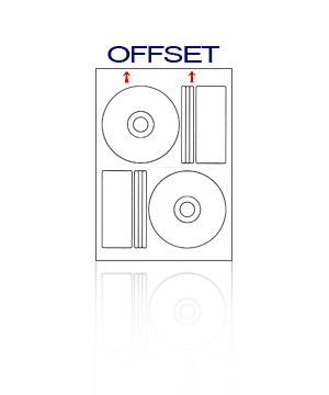 Offset Matt Labels 100 Sheets (200 Labels)