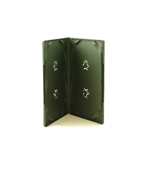 DVD Case - Holds 4 Discs Overlay type Matt Black